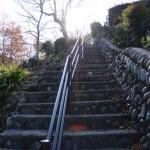 龍谷山 妙楽寺への階段(度会郡大紀町三瀬川)