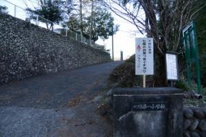 「天然記念物 七保のお葉つきイチョウ」の案内板(旧七保第一小学校)