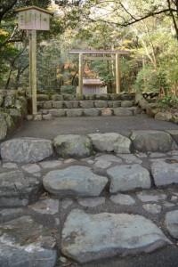 饗土橋姫神社(皇大神宮所管社)への石段