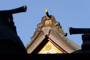 神楽殿の屋根(内宮)