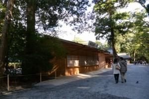 大庭に準備された建物(外宮)