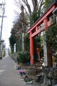 伊勢豊受稲荷神社の鳥居(伊勢市岩渕)