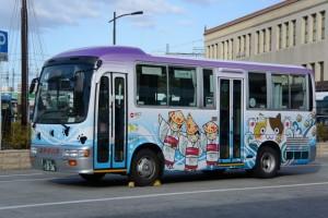 ラッピング「おかげバス」(宇治山田駅前)