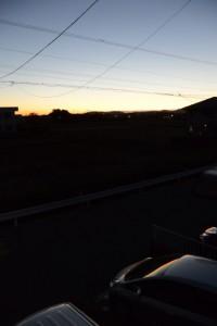 美しい夜明け前(自宅にて)