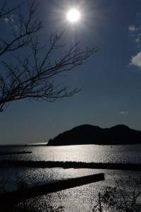 葛島の遠望(宿浦ステーション付近から)