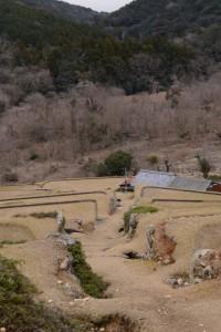 鳥羽河内川上流部にある棚田跡
