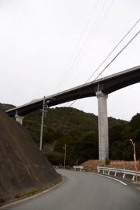 第二伊勢道路の河内橋(鳥羽市河内町)