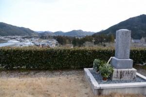 漂泊の詩人 伊良子清白の墓所からの風景
