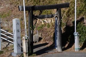 七保大橋付近、上流側の(打見)八柱神社