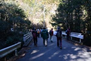 「いぬこえ」へと続く林道の分岐付近の橋