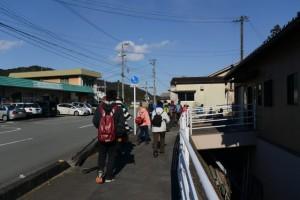 大紀町役場七保支所前から橋がなく藤川を歩いた頃の分岐付近へ