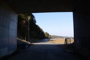 伊勢自動車道 勢和多気-39 139.0KP付近から遠望する山田寺方向