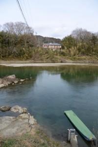 旧両郡橋(櫛田川)付近