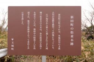新田町の松並木跡の説明板