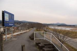 宮川右岸、度会橋東詰付近
