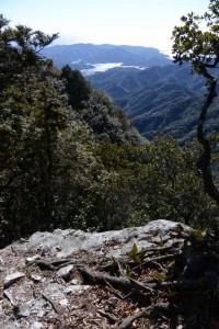 「道方山 0.6km」の道標付近からの眺望