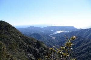 道方山東峰〜道方山(道方山への尾根道)からの眺望