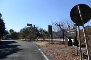 道方山登山口付近の駐車スペース(野見坂隧道の南側)