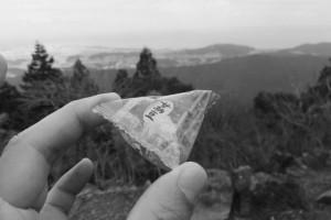 朝熊峠にて小休止