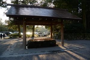 祈年祭の日の手水舎(外宮)