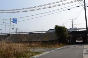 度会橋(宮川)西詰付近の立体交差