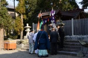 祈年祭を終えた馬瀬神社(伊勢市馬瀬町)
