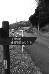 「長野城跡・・・」の道標