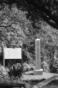 「史跡 長野氏城跡 長野城跡」の石碑(津市美里町桂畑)