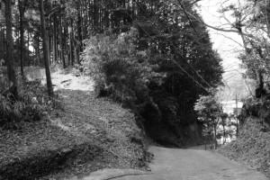 西の城跡へ(津市美里町北長野)