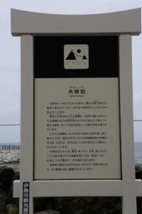 夫婦岩の説明板(二見興玉神社)