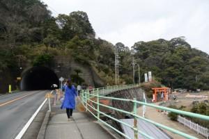二見興玉神社を後に旧二見隧道へ