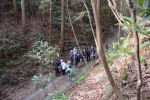 伏拝坂の石灯籠付近からの俯瞰(伊勢本街道)