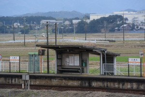 JR参宮線 外城田駅付近の遠望