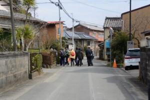 棒原神社(皇大神宮 摂社)の参道へ