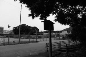 山末神社(豊受大神宮 摂社)から田上大水神社(同摂社)の遠望