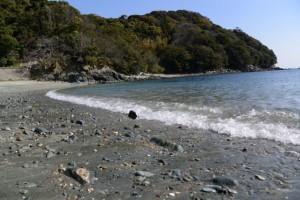 伊射波神社付近の海岸