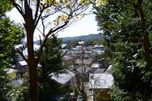満留山神社から望む安楽島町の家並み