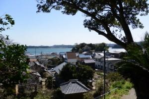 てんぐ山への避難路からの眺望(鳥羽市安楽島町)