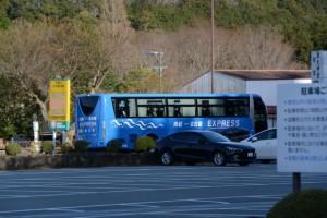 滝原宮前 バス停に停車した「南紀←→名古屋 EXPRESS」