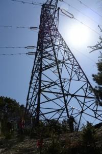 阿曽風穴の分岐(祝詞山〜滝原浅間山)付近の鉄塔