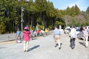 倭姫命の伝説の山 滝原浅間山登山、到着(滝原森林公園)