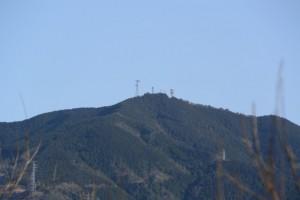 多岐原神社付近から遠望した滝原浅間山
