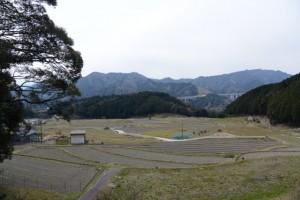 坂本農村公園から望む坂本棚田(亀山市安坂山町)