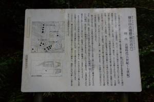 朝日山古墳群(朝日百穴)の説明板