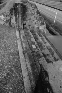 神宮神田、黒木鳥居前の出入口(伊勢市楠部町)