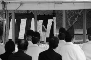 神田下種祭、神田祭場の儀の準備(神宮神田)
