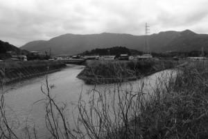 朝熊川と一宇田川の合流点