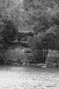 朝熊神社(皇大神宮 摂社)付近から望んだ虎石付近