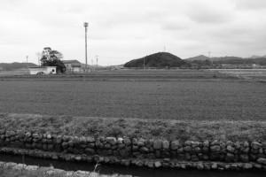 加努弥神社(皇大神宮 末社)および朝熊神社(同摂社)の社叢遠望