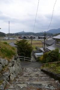 鹿海神社の参道(伊勢市鹿海町)